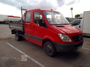 MERCEDES SPRINTER DOUBLE CABINE BENNE – NON ROULANT ROUGE BH-437-ZM
