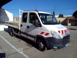 IVECO DAILY 35C13 BENNE DOUBLE CABINE BLANC CT-407-TC