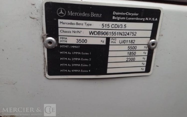 MERCEDES SPRINTER 515 CDI PORTE 2 CHEVAUX BLANC 1RUE518